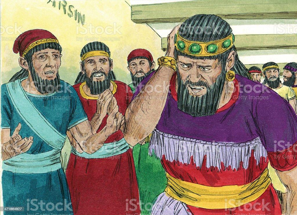 Belshazzar Frightened royalty-free stock photo
