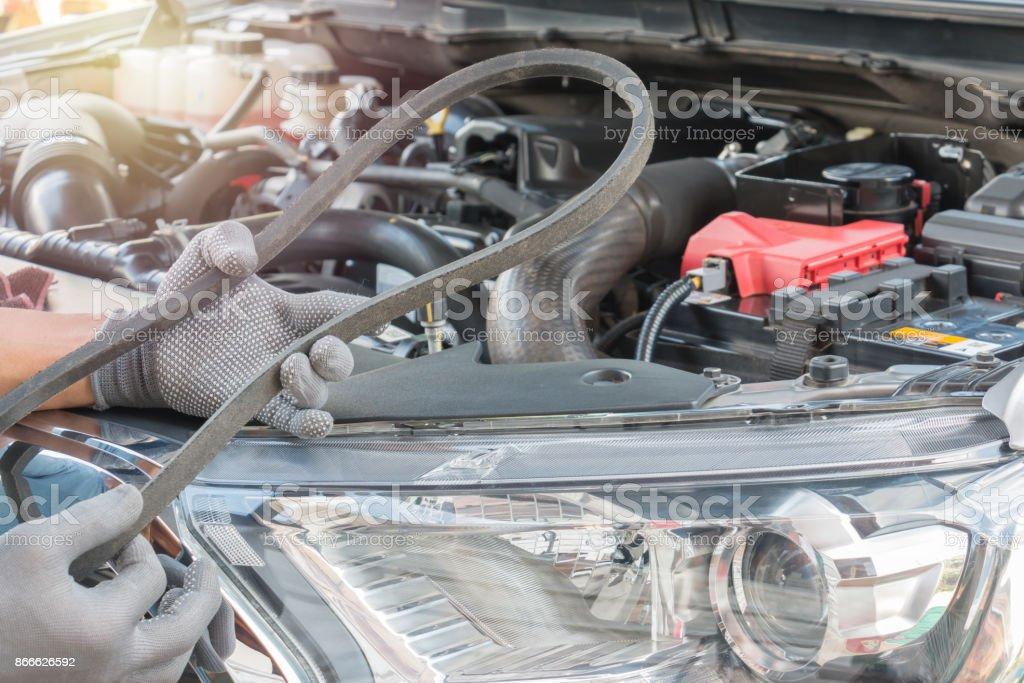 belt alternator auto parts stock photo