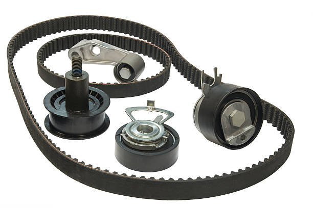 Belt and rollers stock photo