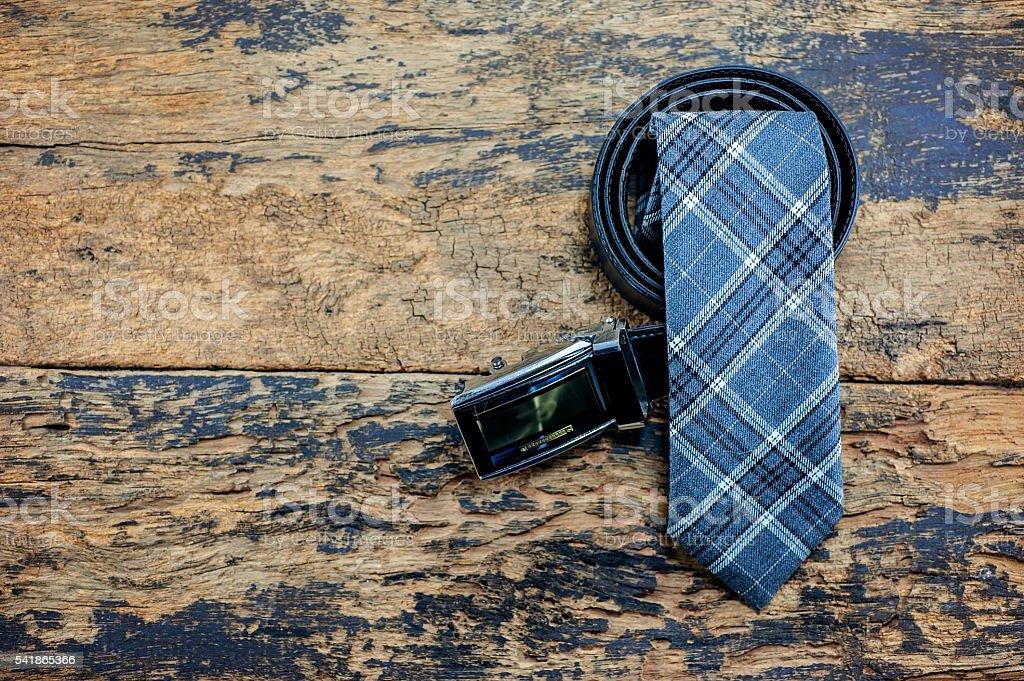 Belt and tie stock photo