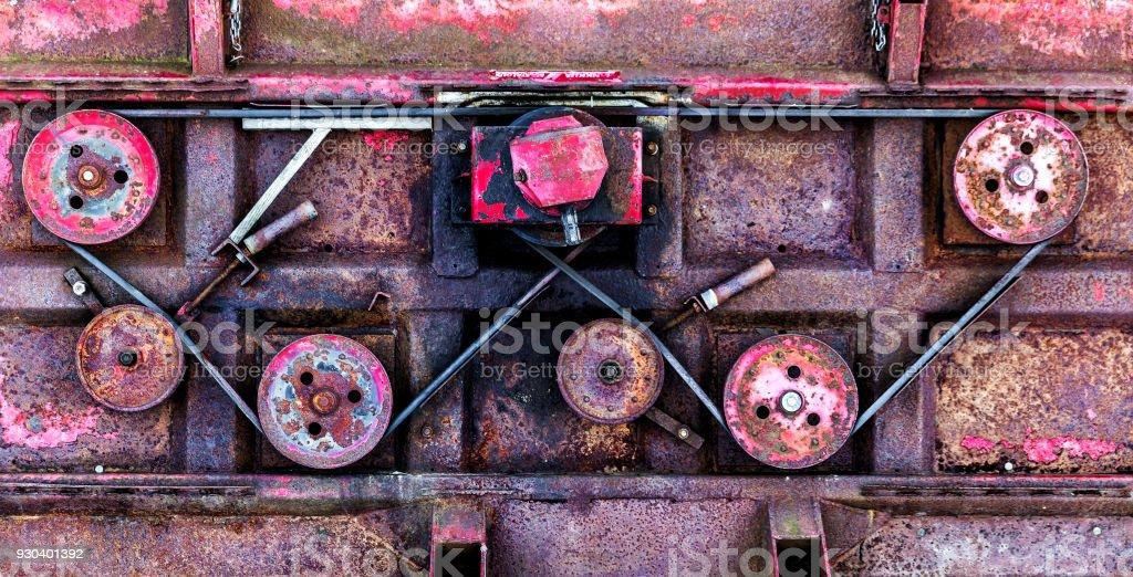 Belt and wheel stock photo
