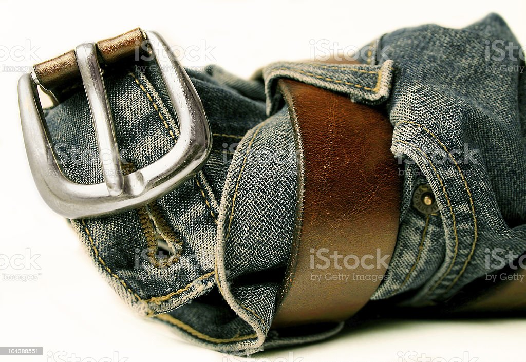 Belt & Jeans royalty-free stock photo