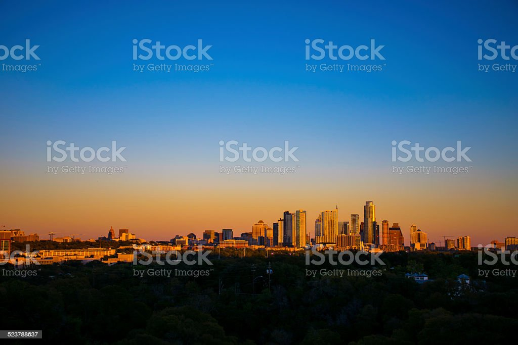 Belt of Venus Colors Austin Sky like Amarillo Sky stock photo
