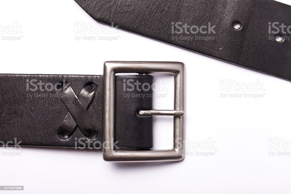 Belt with a fastener isolated stock photo