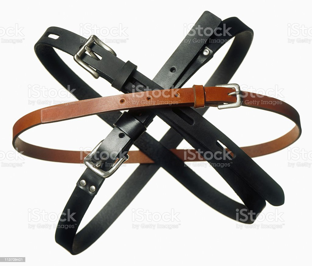 belts cut out on white royalty-free stock photo