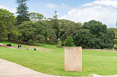Sydney, Australia - November 8, 2015: Belvedere Amphitheatre in Centennial Park of Sydney on a Sunday with people enjoying their leisure activities outdoors. Centennial Park is an urban park in the eastern part of Sydney. In Belvedere Theatre different activities are organised such as film screenings.
