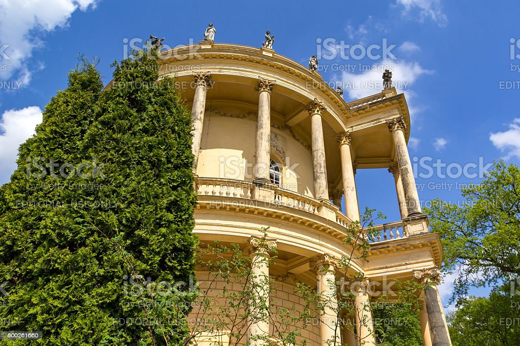 Belvedere at the hill Klausberg, Potsdam, Germany. stock photo