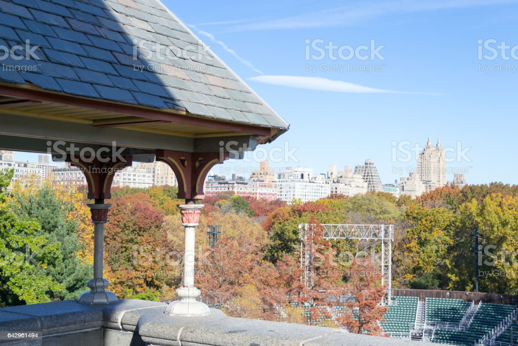 Belvedere Castle in Central park during the fall season stock photo