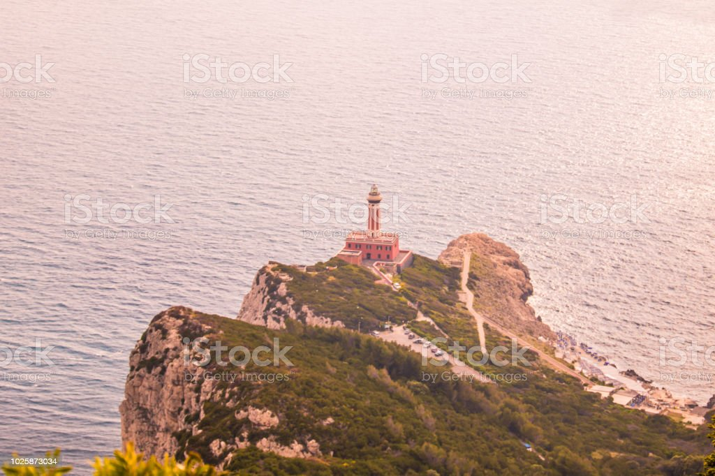 Belvedere Migliera in Anacapri on the island of Capri, Italy - foto stock