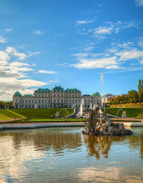 Belvedere palace in Vienna, Austria stock photo