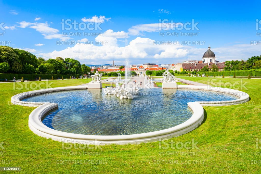Belvedere Palace in Vienna stock photo