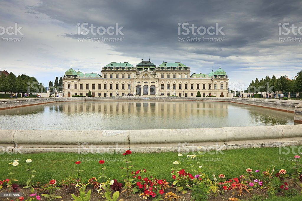 Belvedere palace royalty-free stock photo