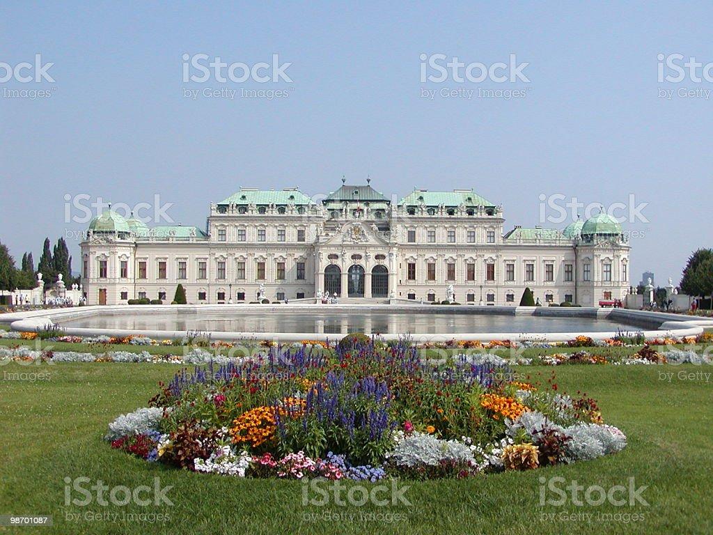 Belvedere Palace Vienna royalty-free stock photo