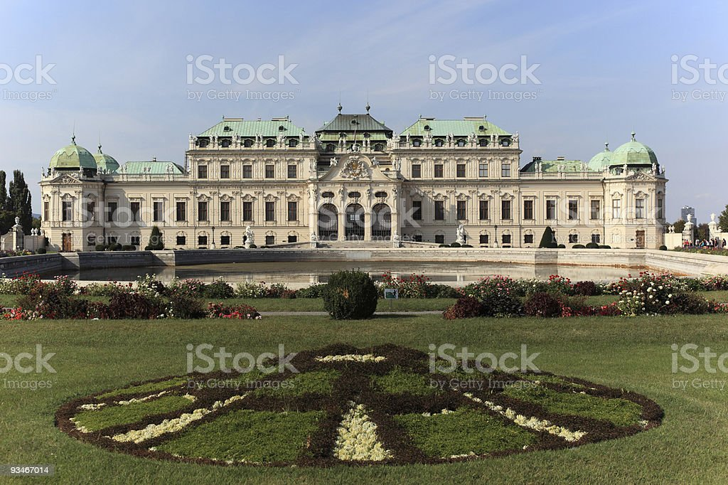 Belvedere, Vienna royalty-free stock photo