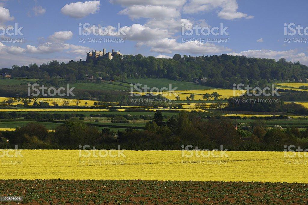 Belvoir Castle landscape stock photo