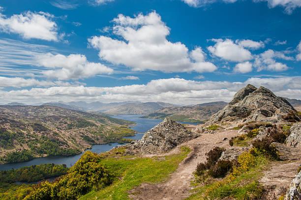 Ben um'an e Loch Katrine - foto de acervo
