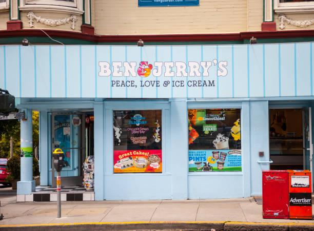 Ben & Jerry's, Haight-Ashbury, San Francisco stock photo