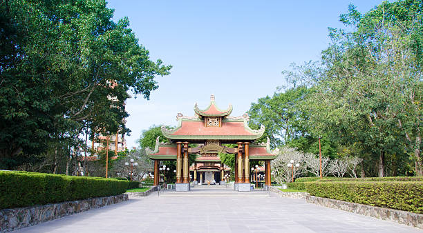 Ben Duoc temple at Cu Chi, Ho Chi Minh, Vietnam Ho Chi Minh city, Vietnam - November 21, 2015: Ben Duoc temple at Cu Chi, Ho Chi Minh, Vietnam. Ben Duoc is a popular destinantion in Ho Chi Minh viet cong stock pictures, royalty-free photos & images