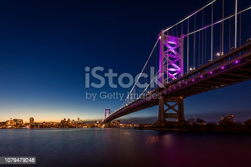 Ben Franklin Bridge with the skyline of Philadelphia behind