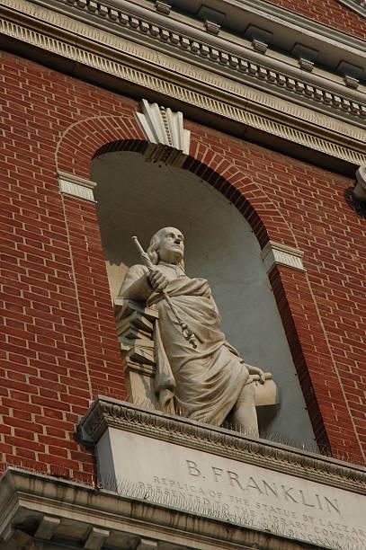 Ben Franklin statue stock photo