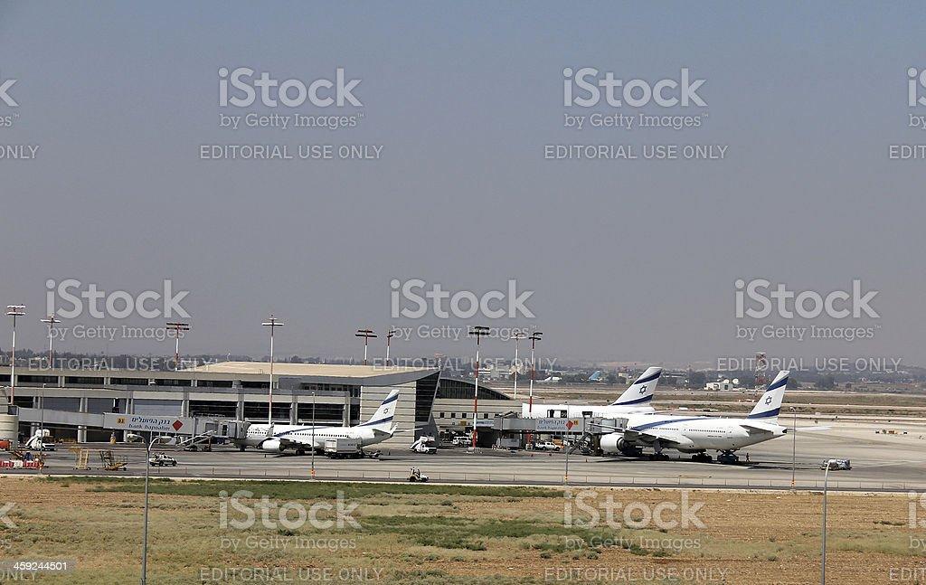 Ben Gurion International Airport stock photo
