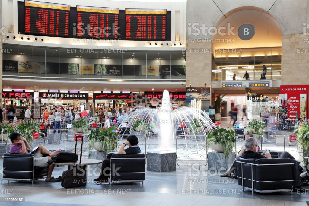 Ben Gurion International Airport, Terminal 3 stock photo