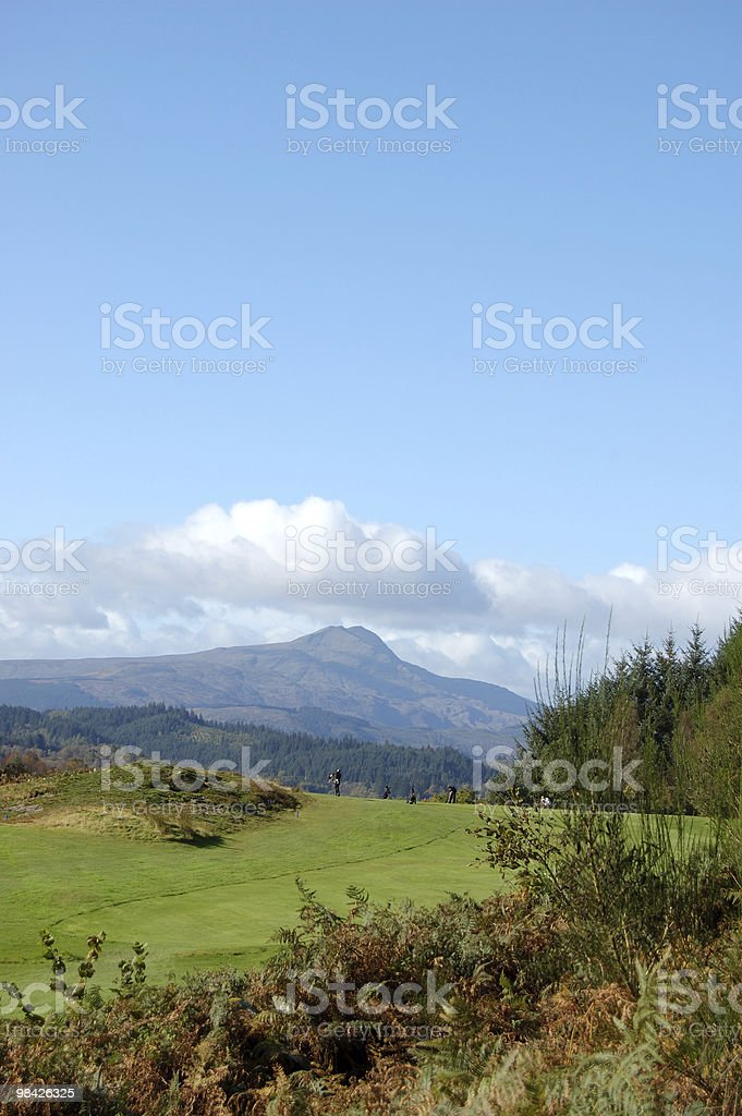 Ben Lomond da golf course vert foto stock royalty-free