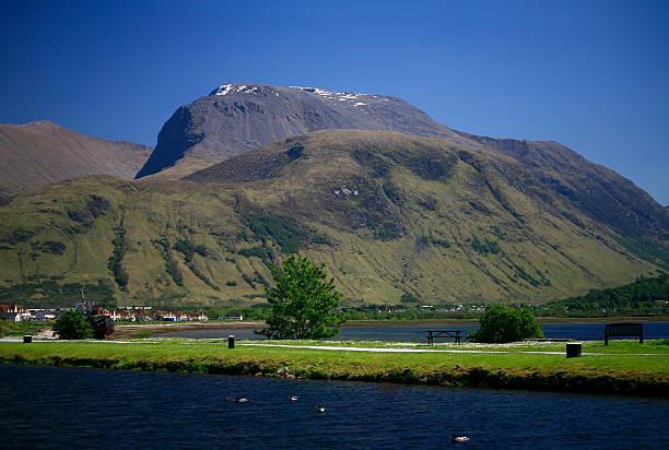 Ben Nevis from Corpach, Lochaber, Scotland stock photo