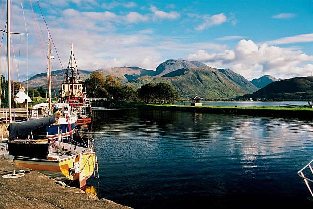 Ben Nevis from Corpach Lochaber Scotland stock photo