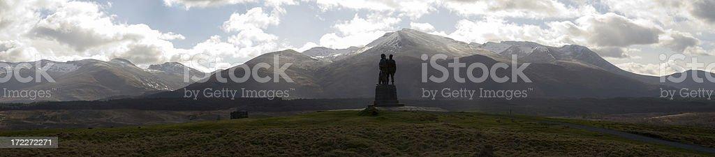 Ben Nevis from the Commando Memorial stock photo
