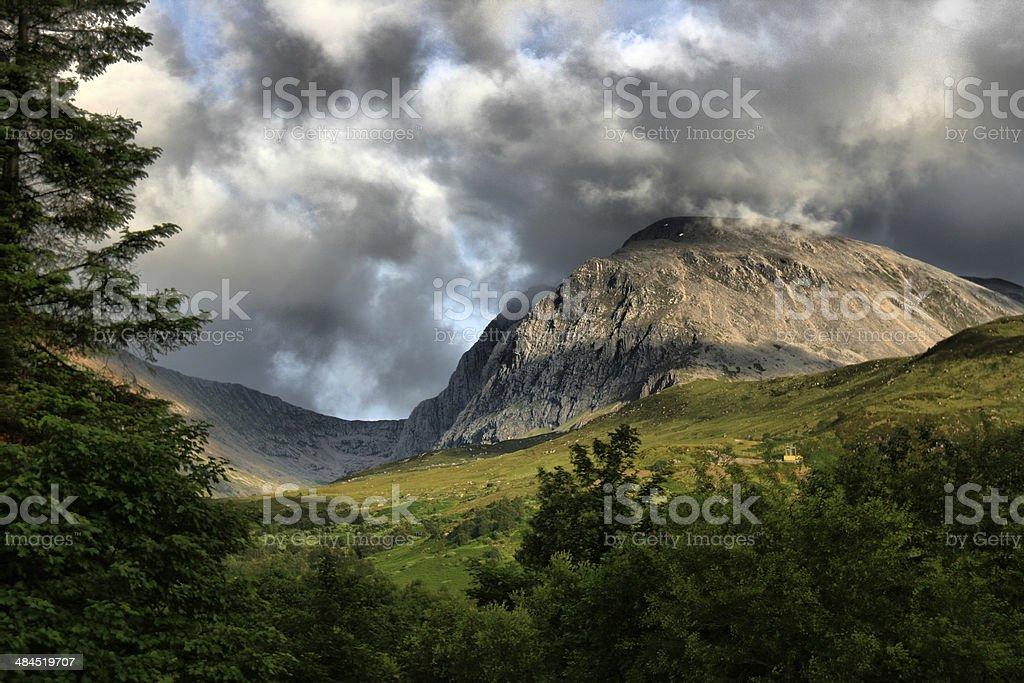 Ben Nevis mountain scotland stock photo