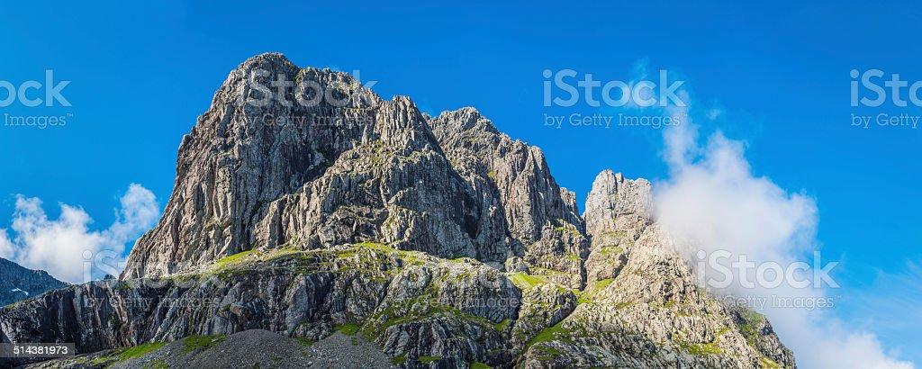 Ben Nevis North Face dramatic mountain peak panorama Highlands Scotland stock photo