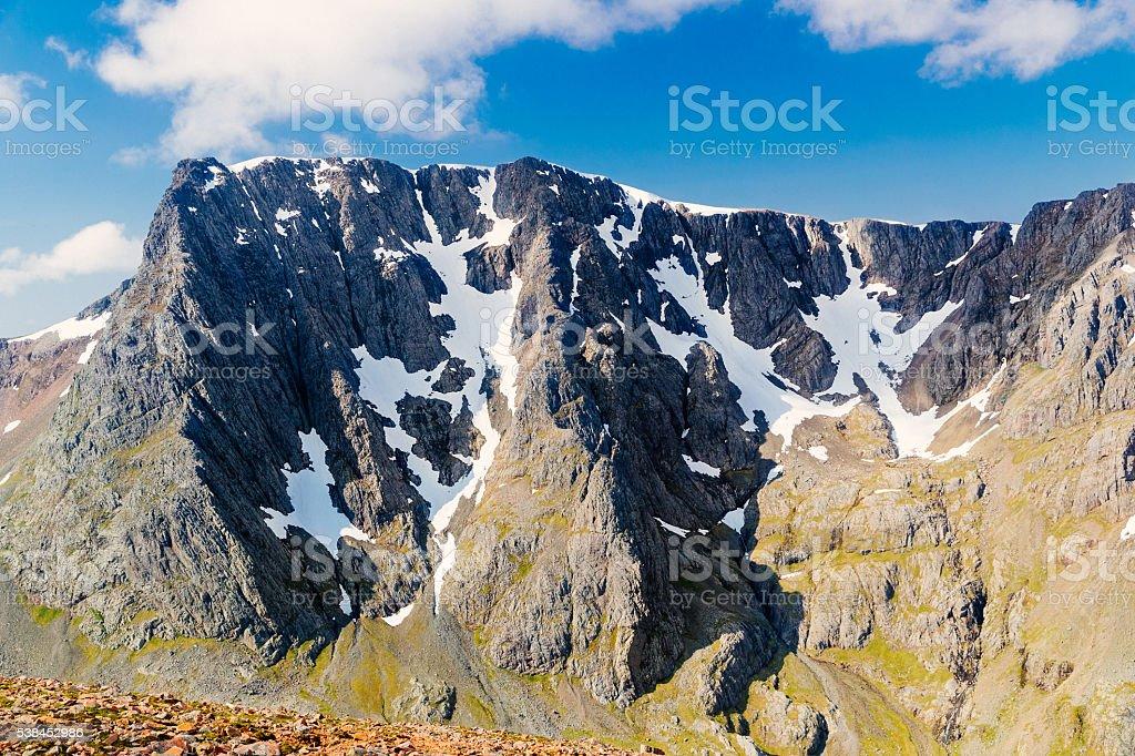 Ben Nevis, Scotland, North Face stock photo