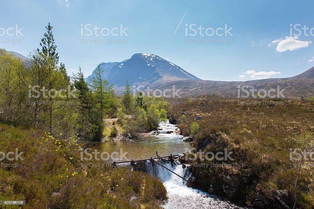 Ben Nevis Scotland UK mountain stream Scottish Highlands stock photo
