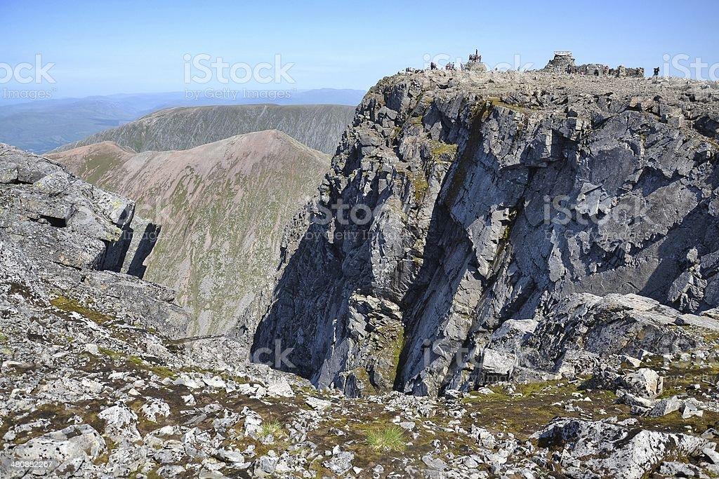 Ben Nevis summit stock photo