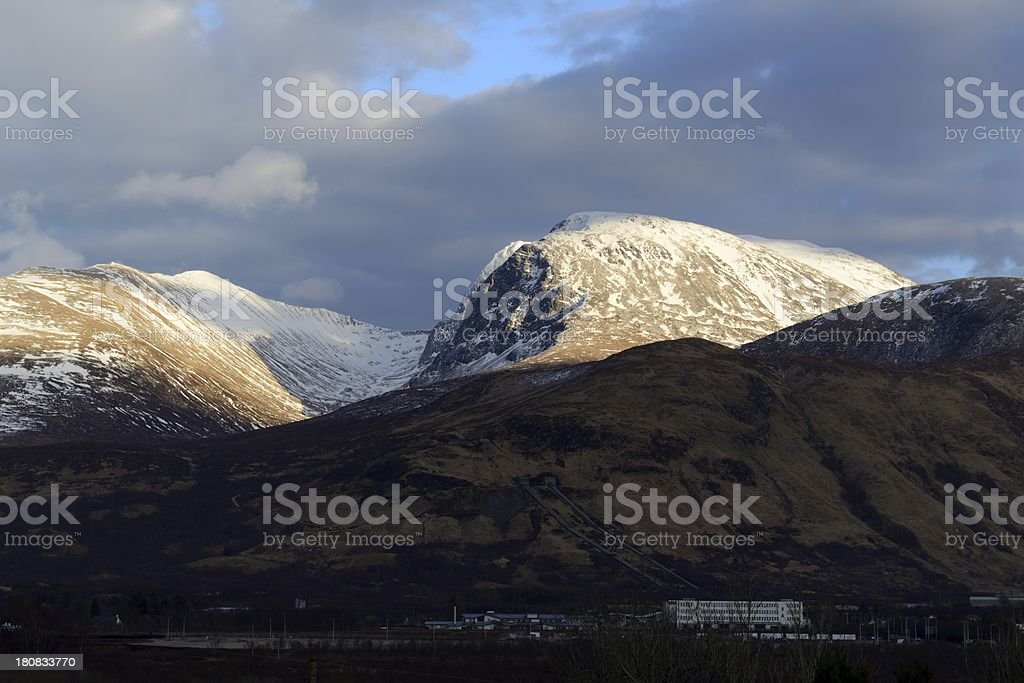 Ben Nevis sunset royalty-free stock photo