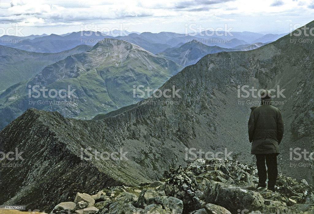 Ben Nevis: the ridge from Carn Mor Dearg Lochaber Scotland stock photo
