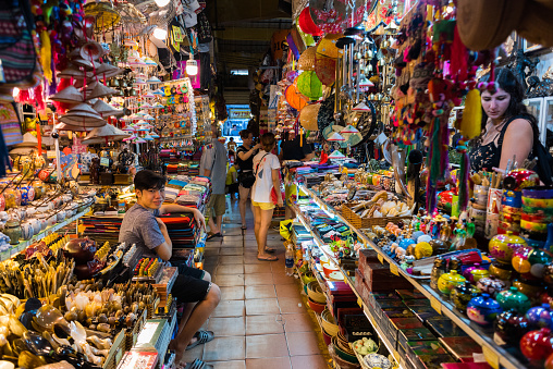 Ben Thanh Market In Ho Chi Minh City Stock Photo - Download Image Now
