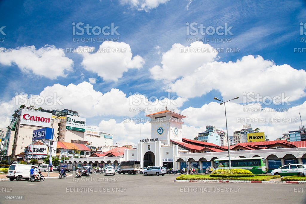 Ben Thanh Market royalty-free stock photo