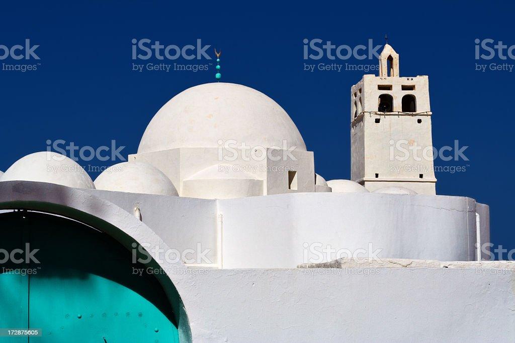 Ben Yala Mosque in Erriadh , Djerba , Tunisia stock photo