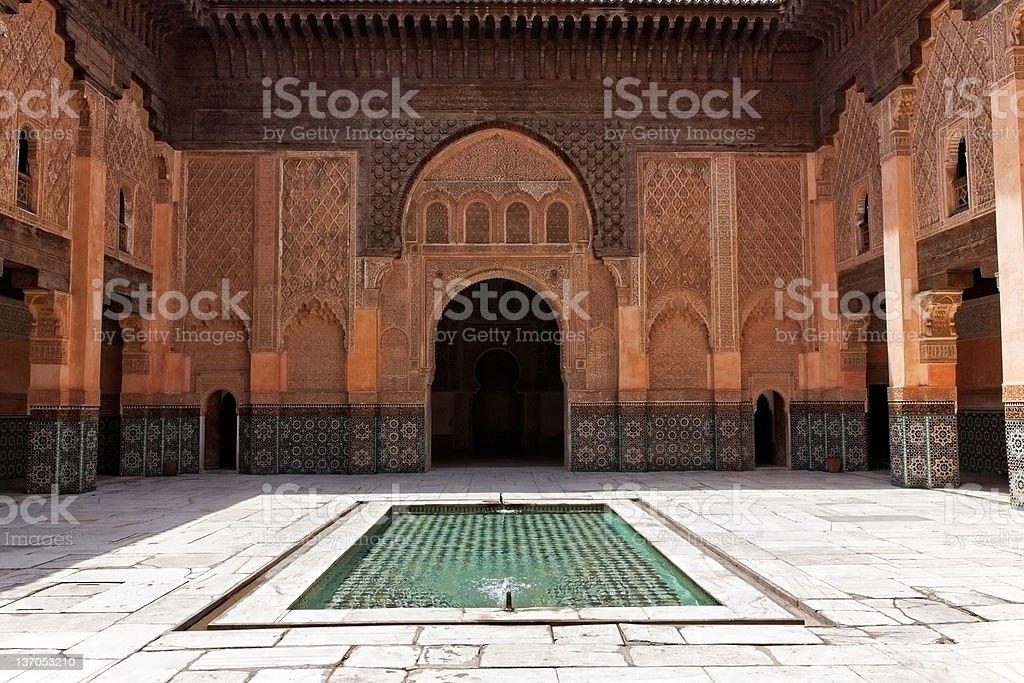 Ben Youssef Madrasa, Marrakech, Morocco. royalty-free stock photo