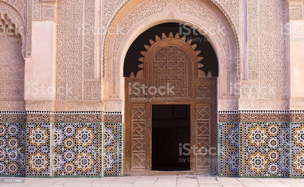 Ben Youssef Madrasa, Marrakech, Morocco stock photo