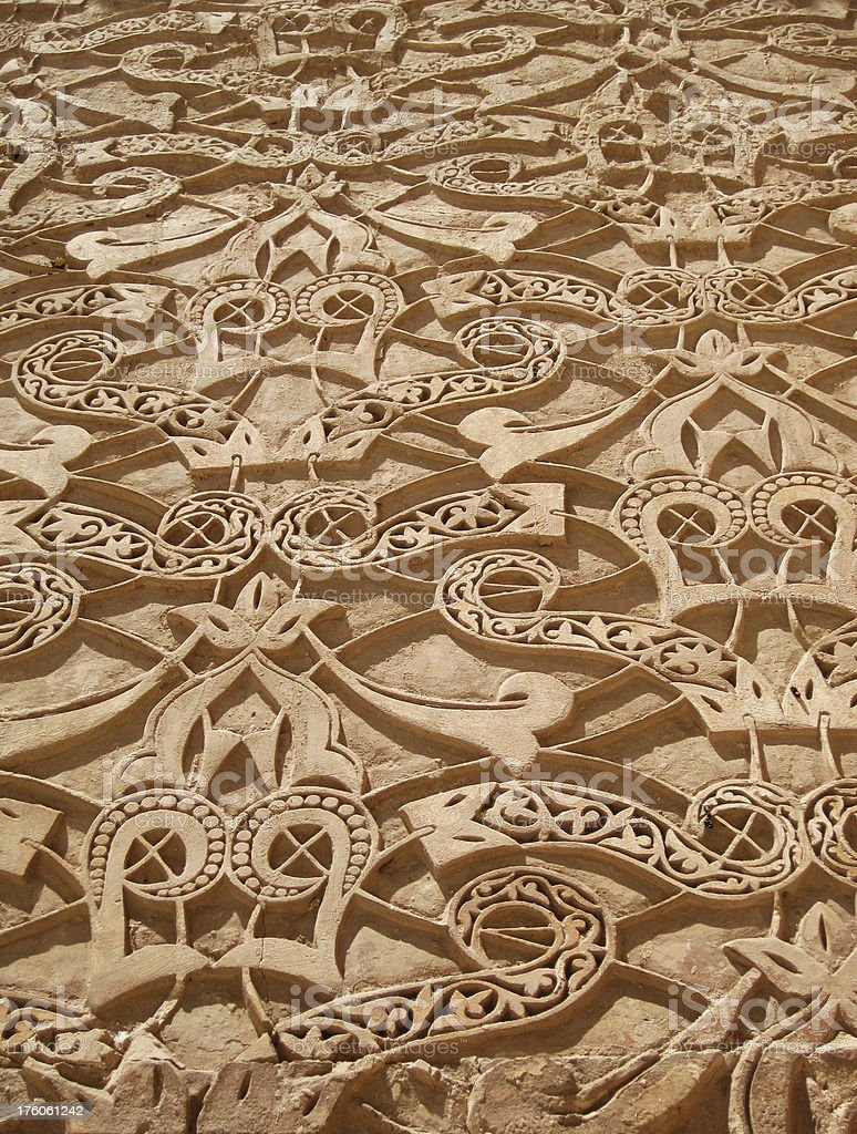Ben Youssef Medersa Beautiful Carvings royalty-free stock photo