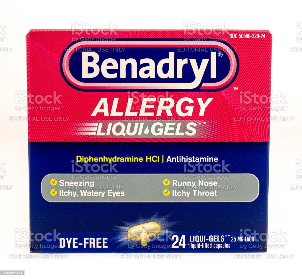 Benadryl - foto de stock