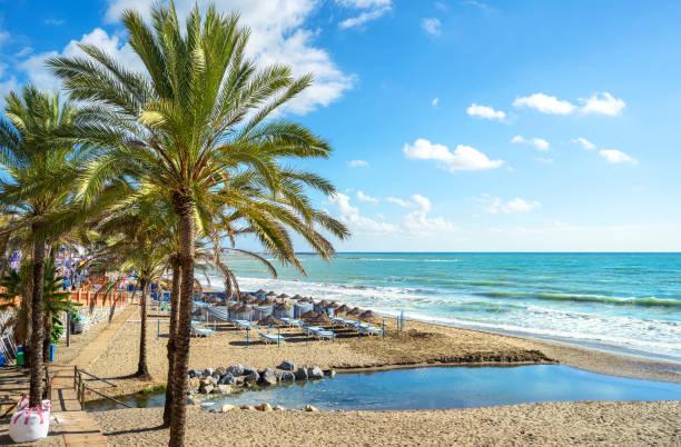 Benalmadena beach. Malaga, Andalusia, Spain - foto de stock