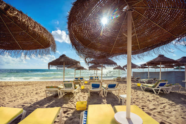 Playa de Benalmádena, provincia de Málaga, Andalucía, España - foto de stock