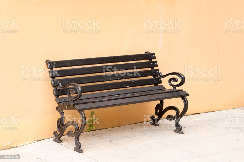 bench and wall foto royalty-free
