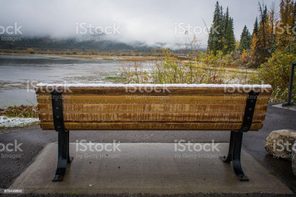Bench at Vermilion photo libre de droits