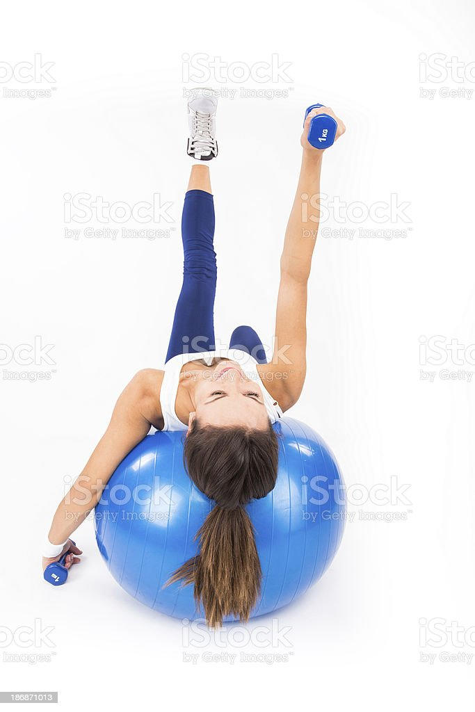 Bench Dumbbell Training royalty-free stock photo
