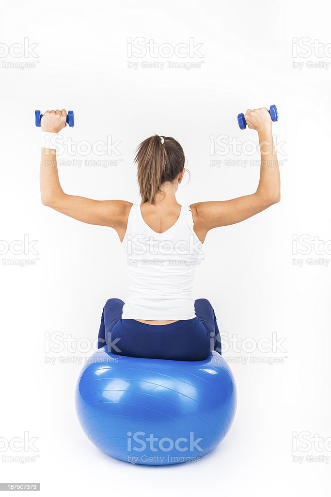 Bench Dumbbell Training royalty-free stock photo